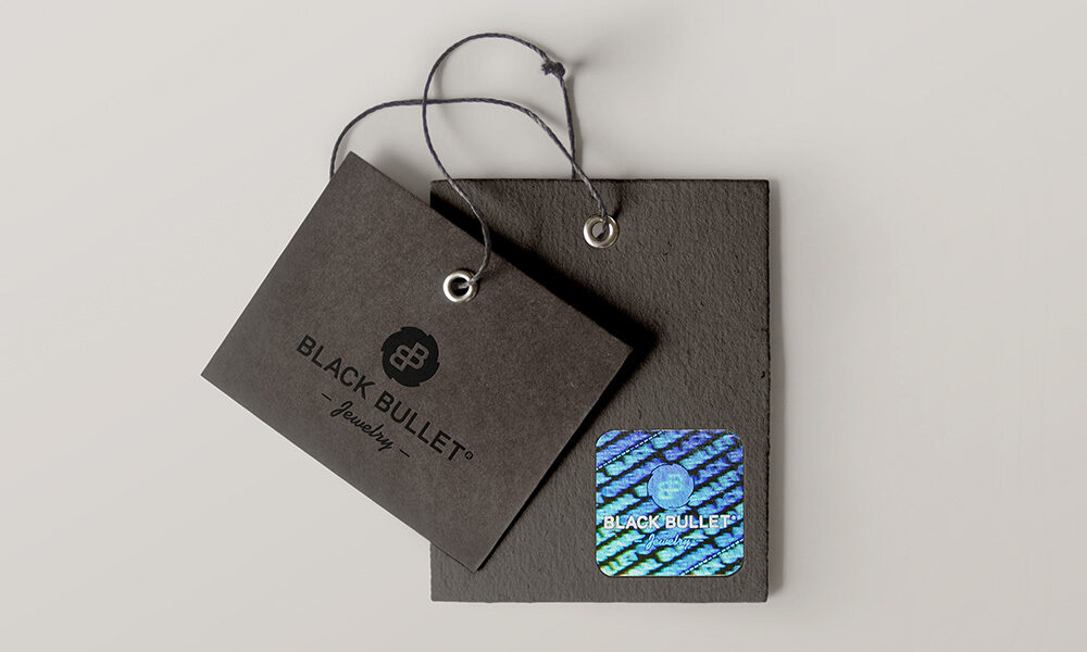 Hangtags with hologram for BlackBullet® Jewelry