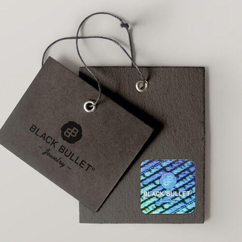 Hangtags mit Hologramm für BlackBullet® Jewelry