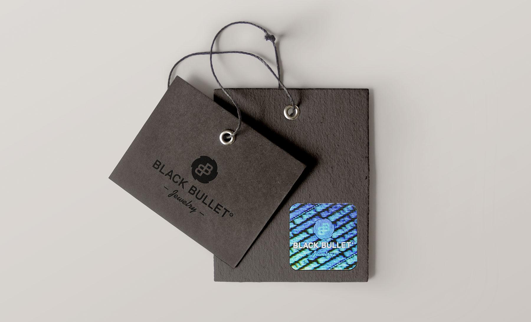 Hangtag mit Hologramm BlackBullet Jewelry