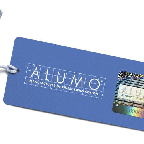 Alumo – Hangtag mit Hologramm
