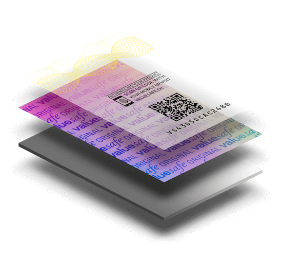 valuesafe hologram label with layers