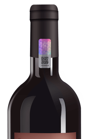 wine bottle hologram