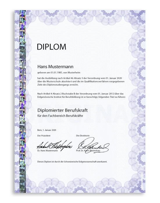 Diplom Sicherheitspapier