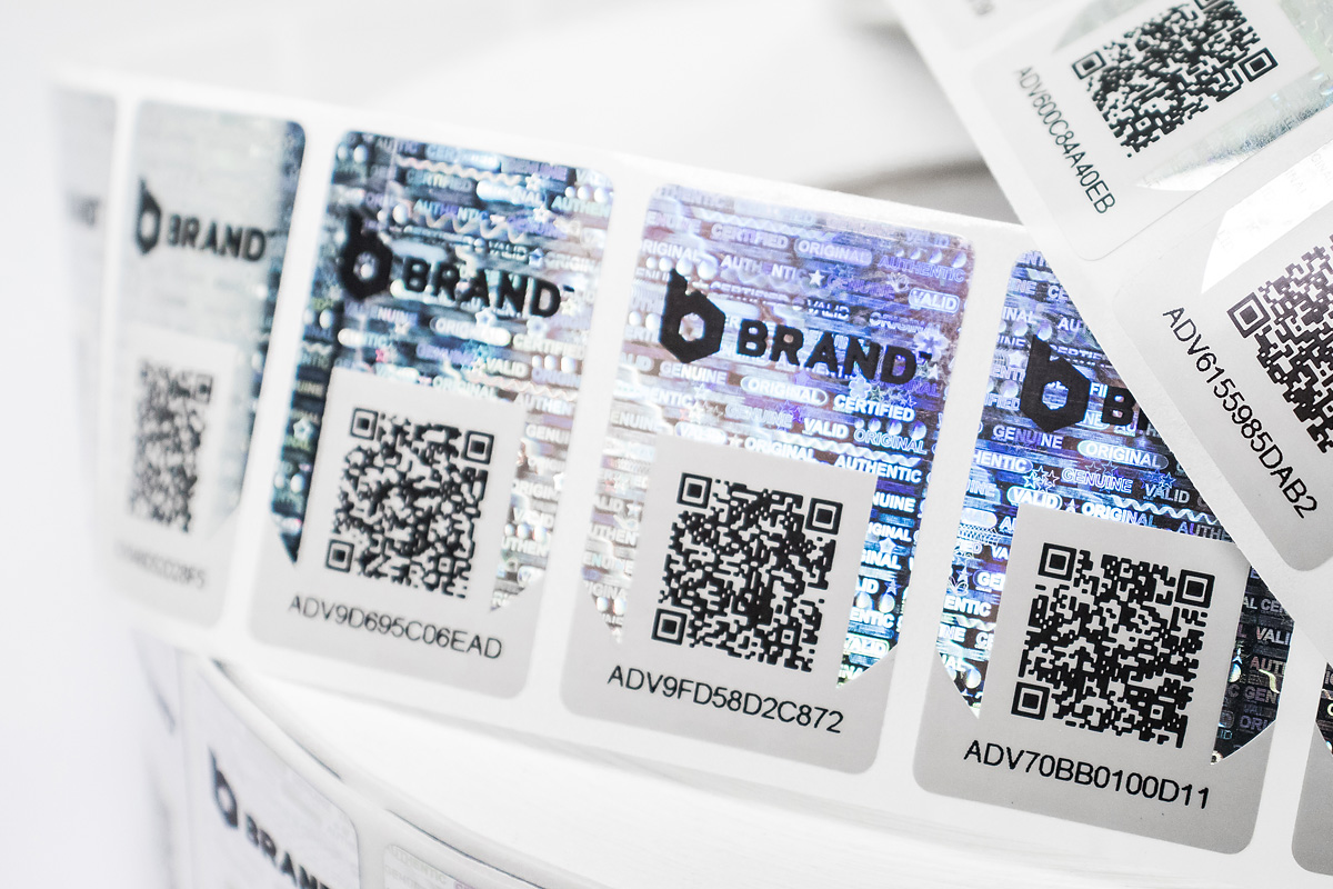 Security Labels with QR code